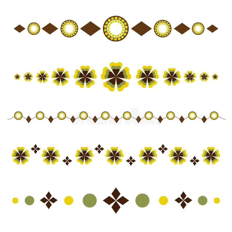 dekoracyjni dividers royalty ilustracja
