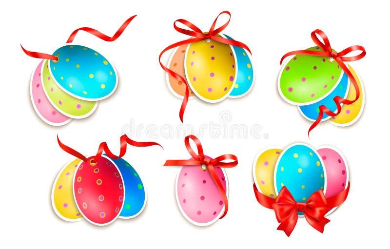Dekoracyjni Easter jajka. Wielkanocne karty ilustracji