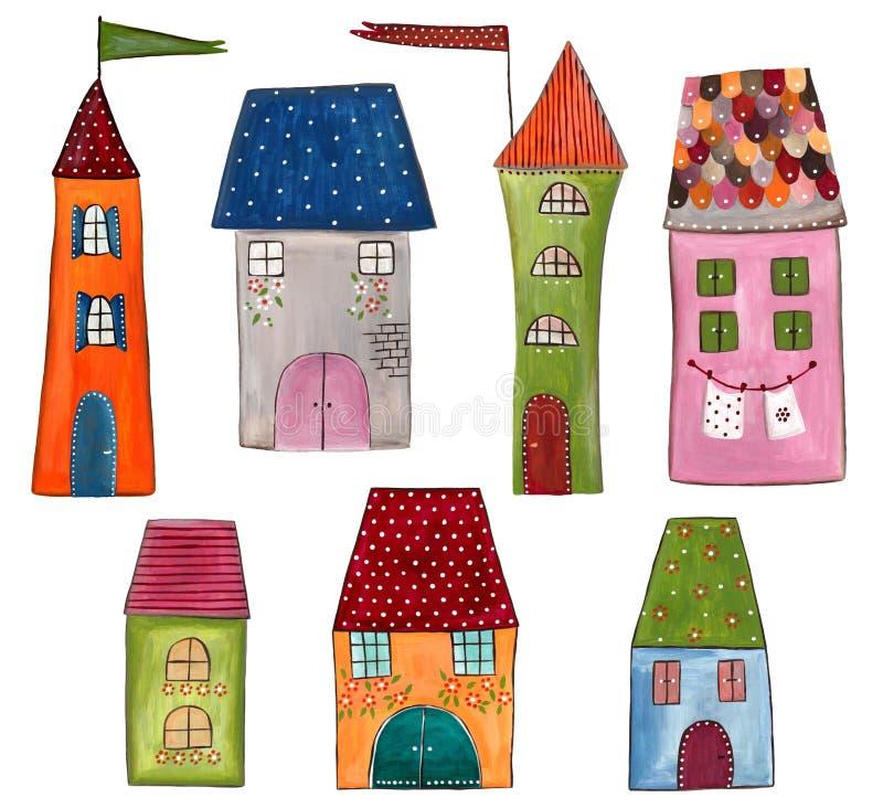 Download Dekoracyjni elementy ilustracji. Obraz złożonej z city - 21911200