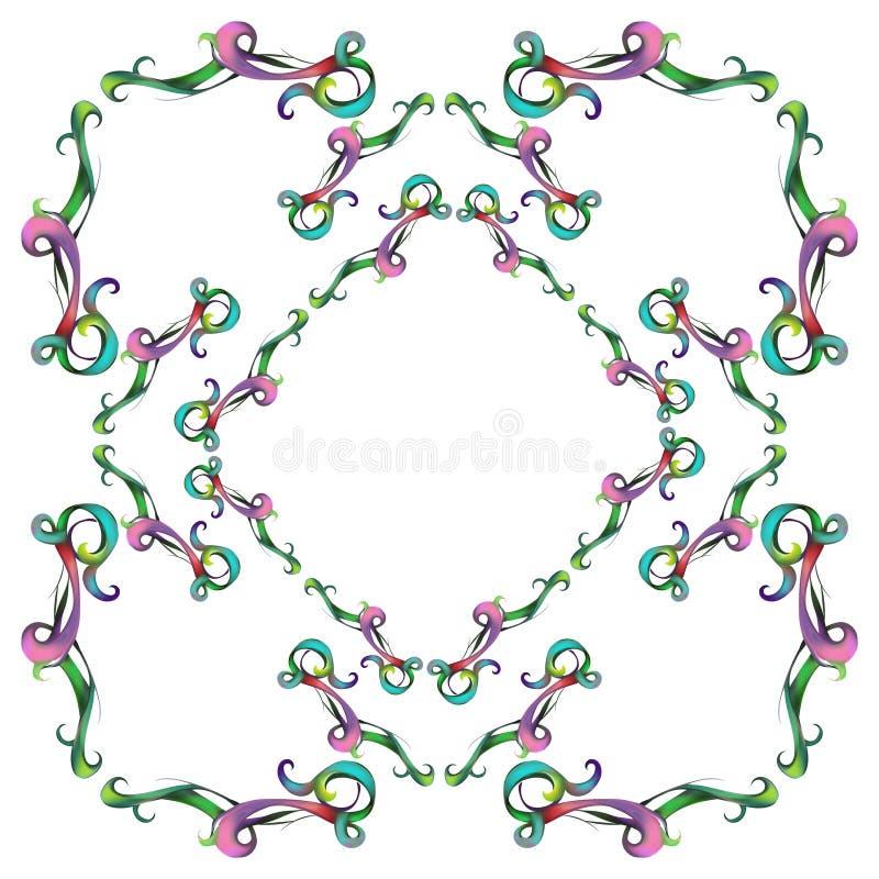 Dekoracyjni elementy w roczniku projektują dla dekoracja układu, fram ilustracja wektor