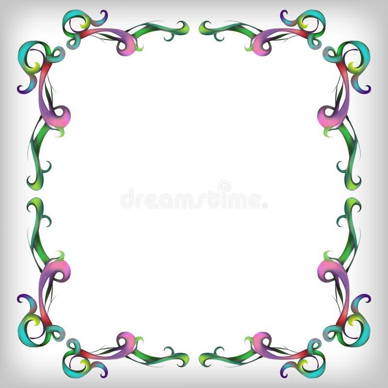 Dekoracyjni elementy w roczniku projektują dla dekoracja układu, fram ilustracji