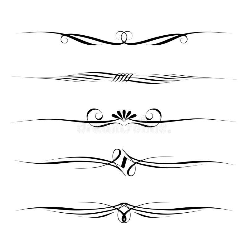 dekoracyjni kaligrafia elementy ilustracji