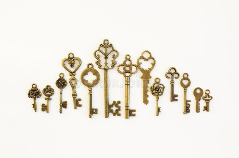 Dekoracyjni klucze różni rozmiary, stylizowany antyk obraz royalty free