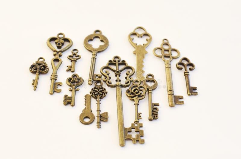 Dekoracyjni klucze różni rozmiary, stylizowany antyk fotografia royalty free