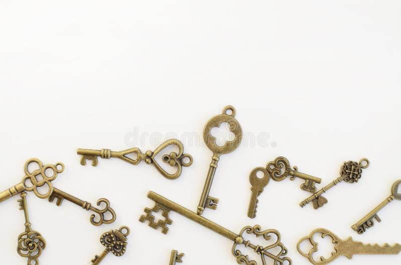 Dekoracyjni klucze różni rozmiary, stylizowany antyk zdjęcie royalty free