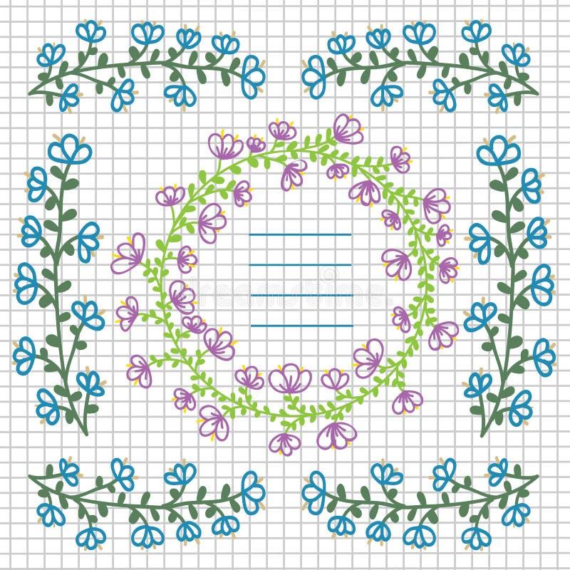 dekoracyjni kwiaty royalty ilustracja