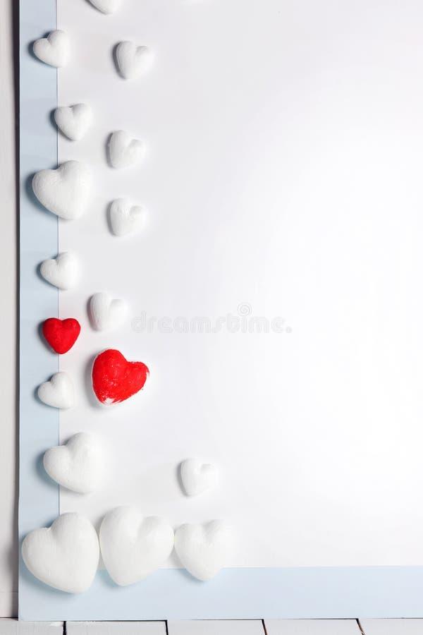 Dekoracyjni serca na białym tle zdjęcie stock