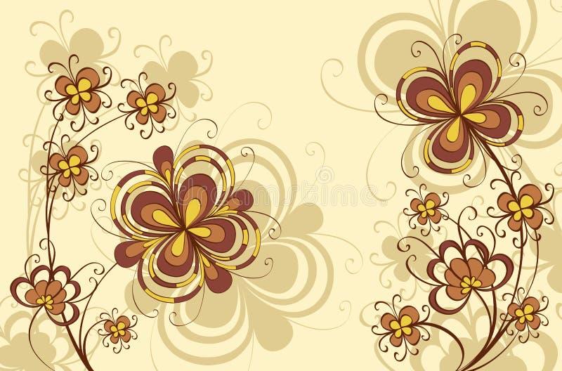 dekoracyjni tło kwiaty royalty ilustracja