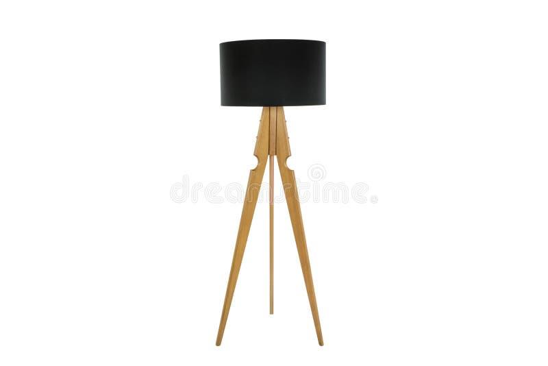 Dekoracyjni tripos stoi światło PODŁOGOWA lampa, abażurek -/ fotografia royalty free
