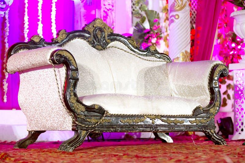 Dekoracyjny ślub, Recepcyjna scena zdjęcia stock