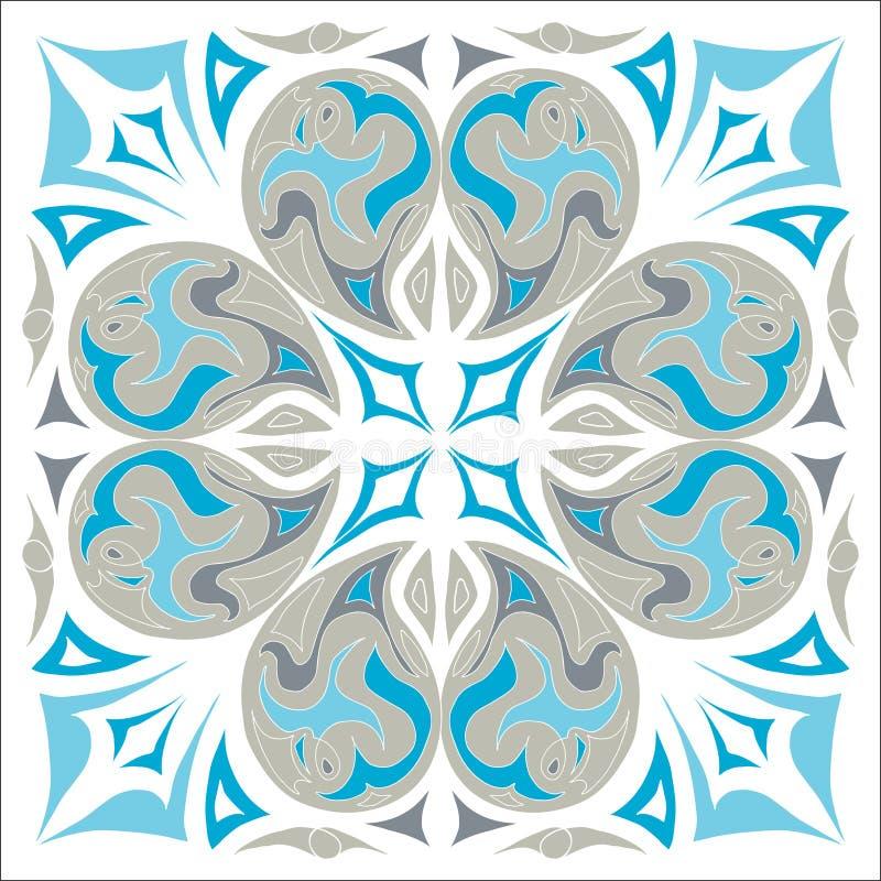 Dekoracyjny abstrakt taflujący projekta szalika wschodni mediterranian wzór ilustracja wektor