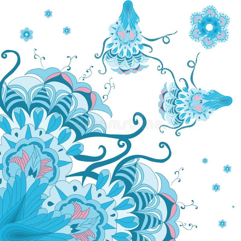 Dekoracyjny abstrakta wzór z ślimacznicą obraz stock