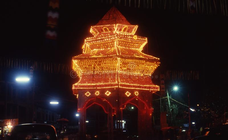 Dekoracyjny basztowy Thrissur Pooram, Kerala zdjęcie royalty free