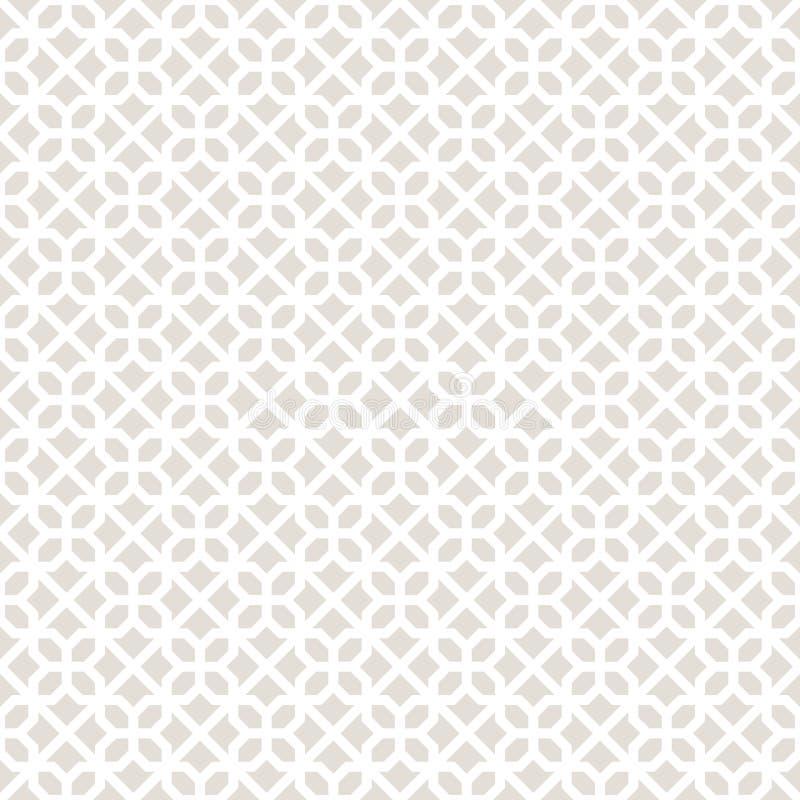 Dekoracyjny Bezszwowy Geometryczny wektoru wzoru tło royalty ilustracja