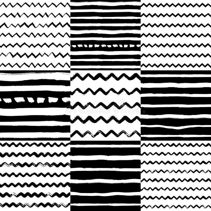 Dekoracyjny bezszwowy wzór z handdrawn kształtami ilustracja wektor