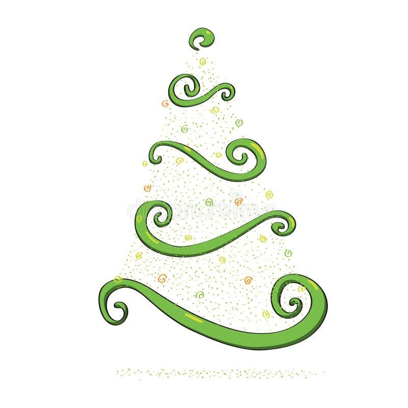 dekoracyjny Bożego Narodzenia drzewo ilustracja wektor