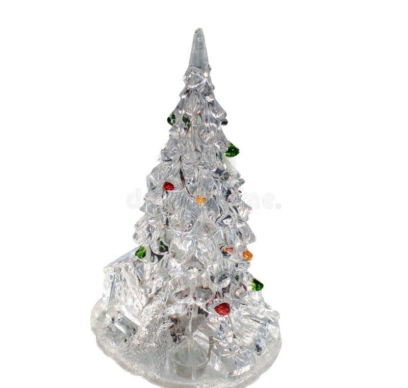 Dekoracyjny bożych narodzeń i nowego roku drzewo na białym tle obrazy stock