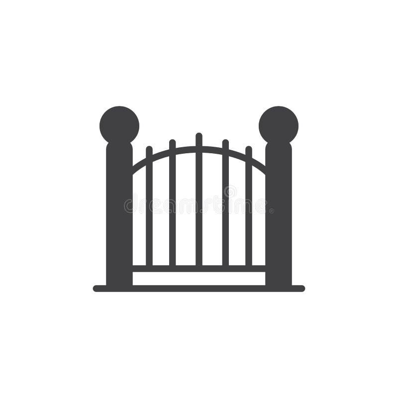 Dekoracyjny bramy ikony wektor ilustracji