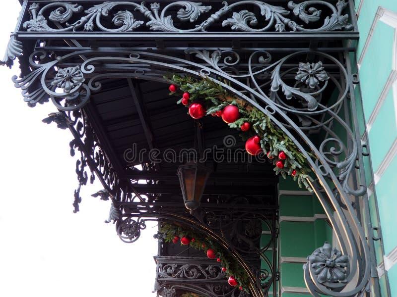 Dekoracyjny czerep nad wejście dokonany żelazo obraz royalty free