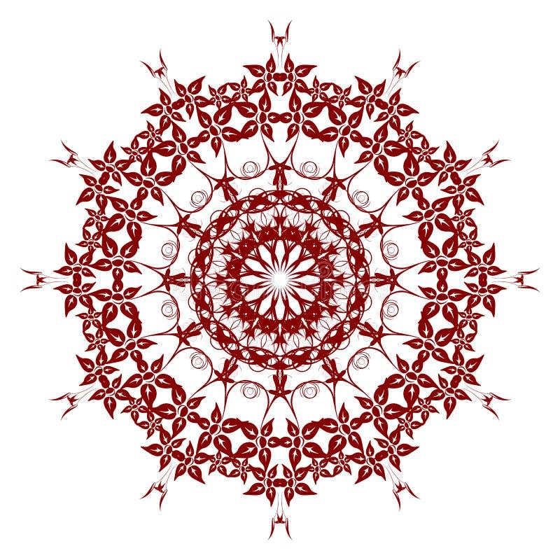 Dekoracyjny czerwony kwiat ilustracji