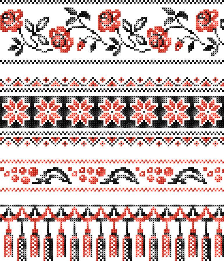 dekoracyjny deseniowy ukrainian ilustracji