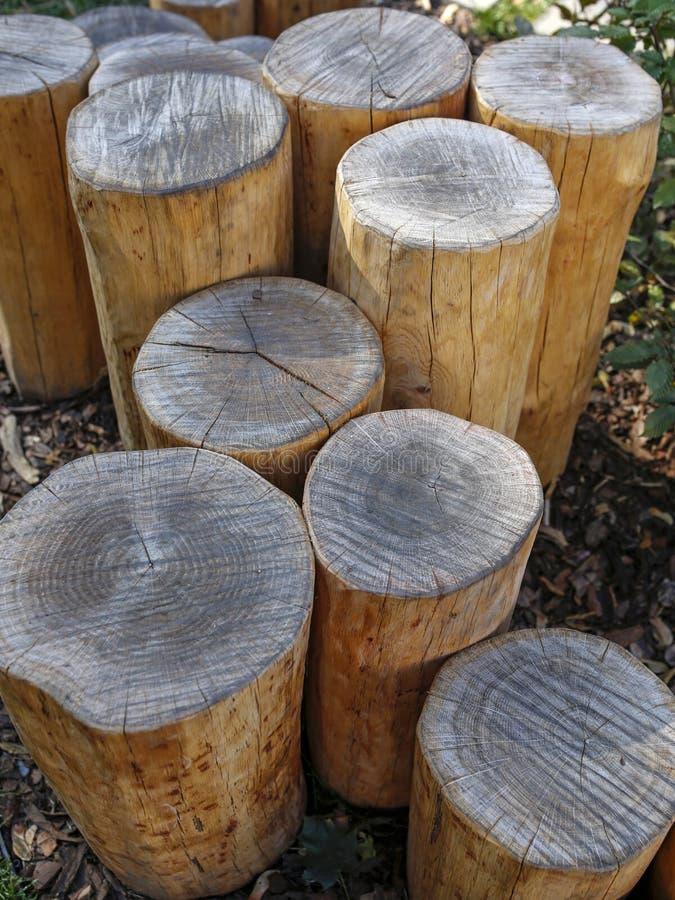 Dekoracyjny drewniany beli ogrodzenie zdjęcia stock