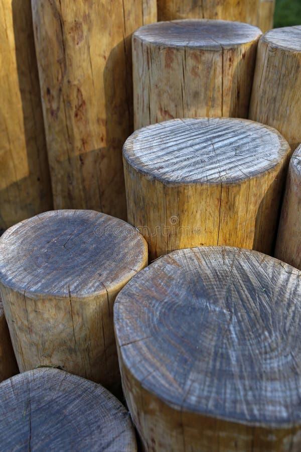 Dekoracyjny drewniany beli ogrodzenie fotografia stock