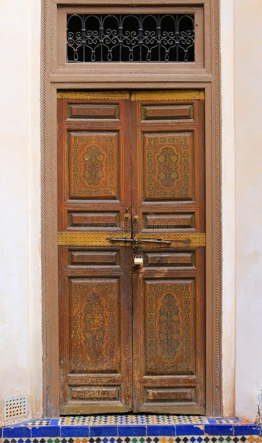 Dekoracyjny drzwi w Maroko zdjęcie stock