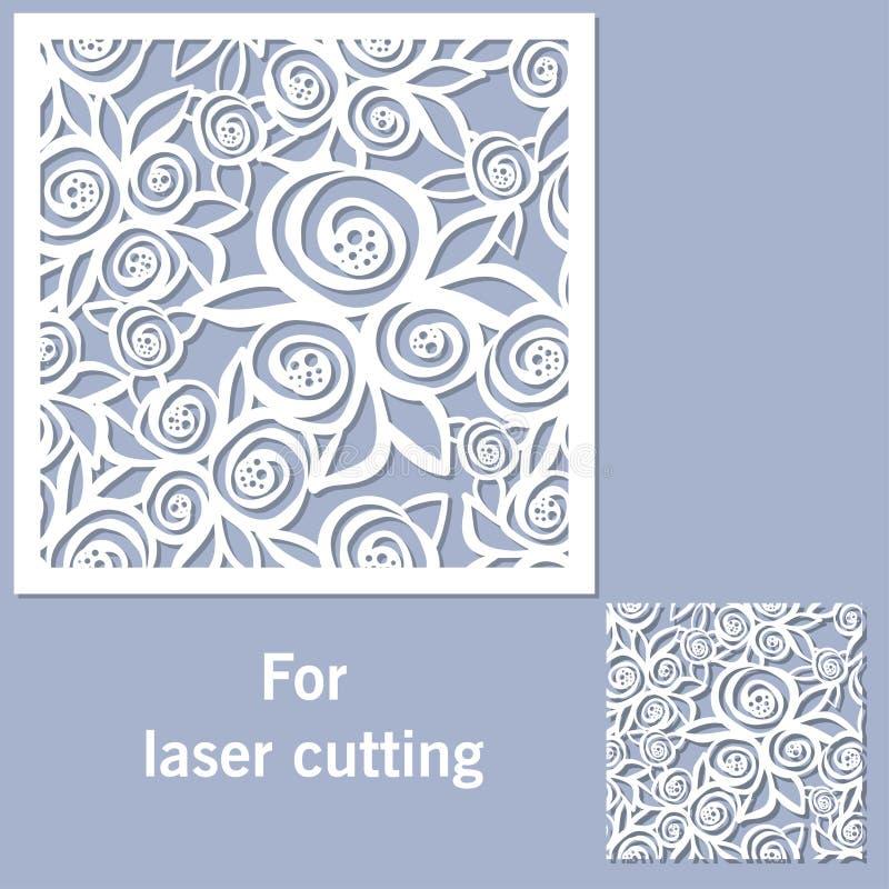 Dekoracyjny element dla laserowego rozcięcia ilustracja wektor
