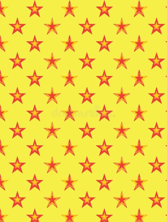 Dekoracyjny gwiazdowy wzór ilustracji