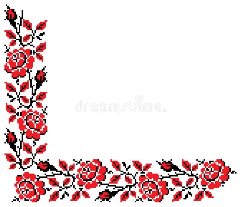 dekoracyjny hafciarski kwiecisty royalty ilustracja