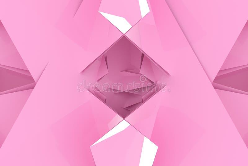 Dekoracyjny, ilustracji CGI, przypadkowy geometryczny t?o dla projekt tekstury t?a, 3 d czyni? ilustracji