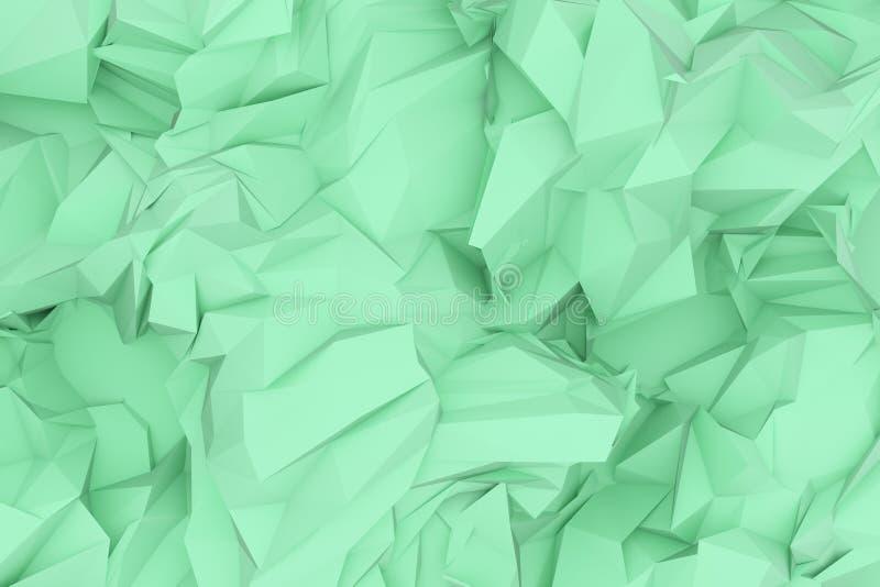 Dekoracyjny, ilustracji CGI, przypadkowy geometryczny t?o dla projekt tekstury t?a, 3 d czyni? ilustracja wektor