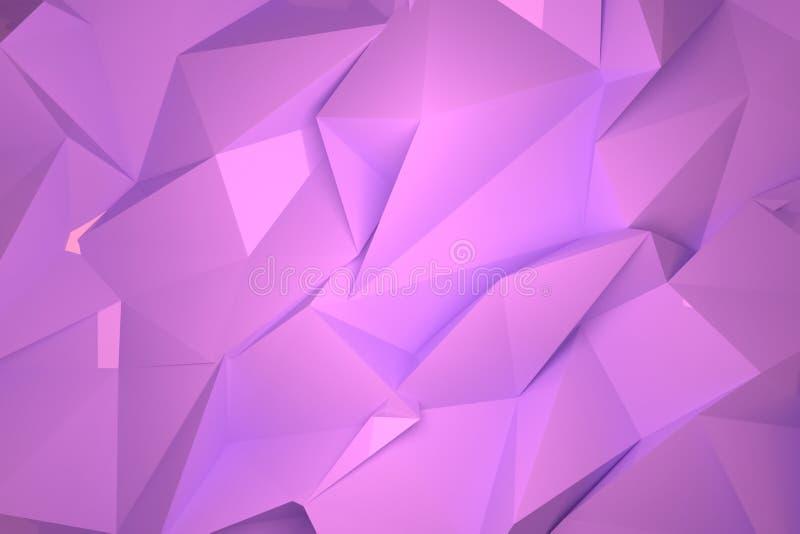 Dekoracyjny, ilustracji CGI, przypadkowy geometryczny t?o dla projekt tekstury t?a, 3 d czyni? royalty ilustracja