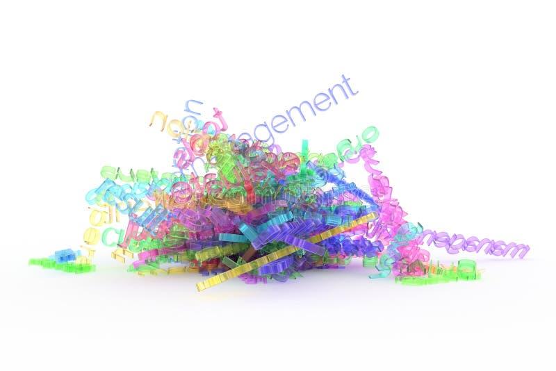 Dekoracyjny, ilustracji CGI typografia, wiązka biznesowy słowo reprezentuje ewidencyjnego przeciążenie dla projekt tekstury tła, ilustracji
