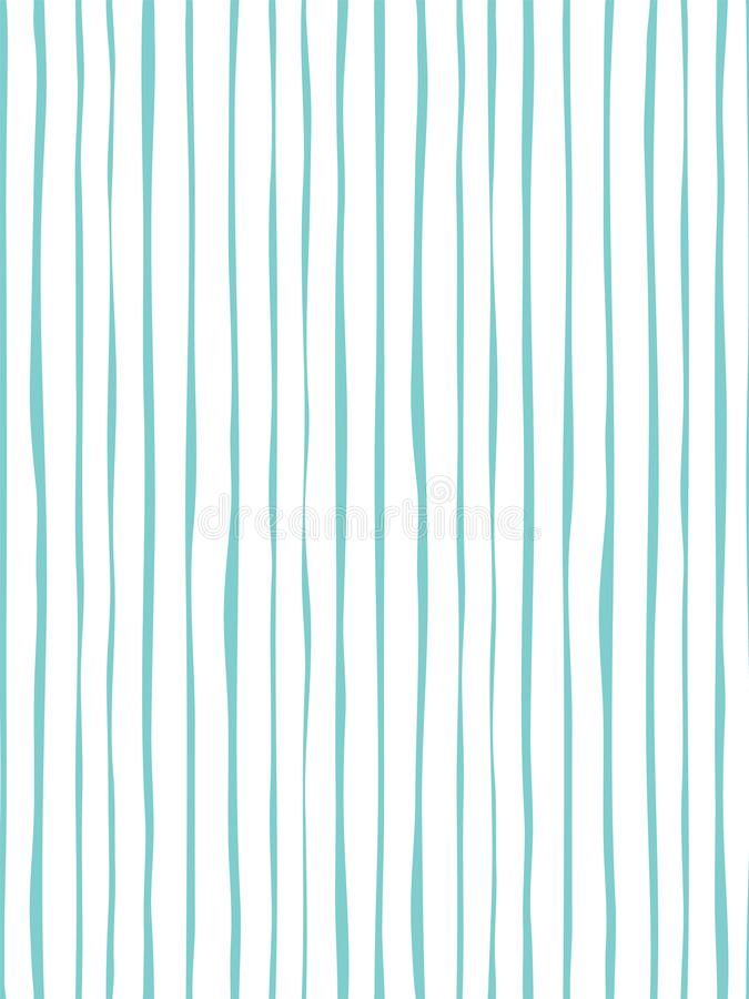 Dekoracyjny kreskowy bezszwowy wzór z ręką rysującą kształtuje ilustracji