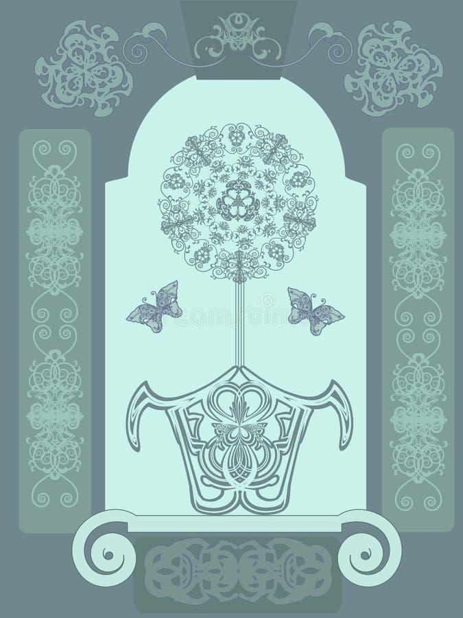 dekoracyjny kwiat royalty ilustracja
