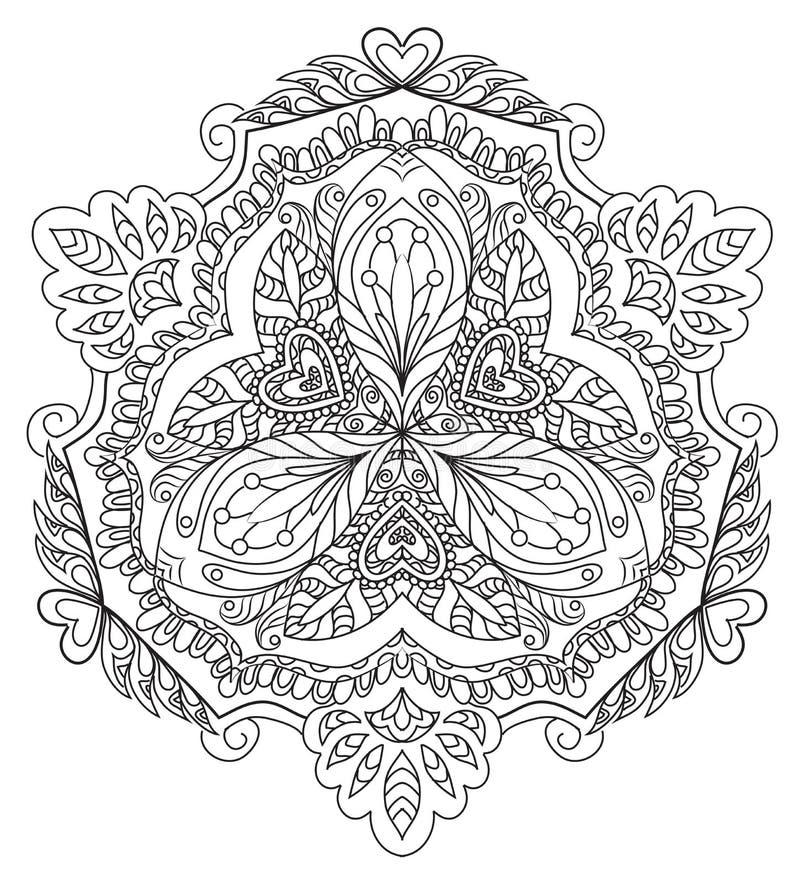 Dekoracyjny kwiecisty mandala royalty ilustracja