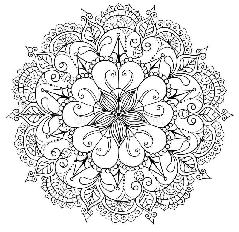 Dekoracyjny kwiecisty mandala ilustracji