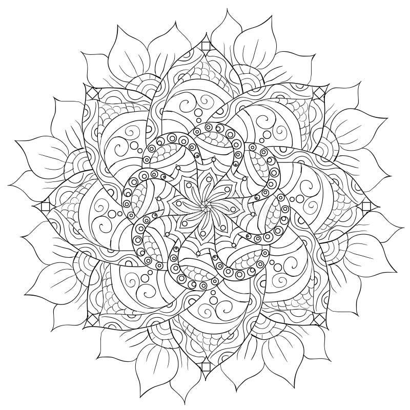 Dekoracyjny kwiecisty mandala ilustracja wektor