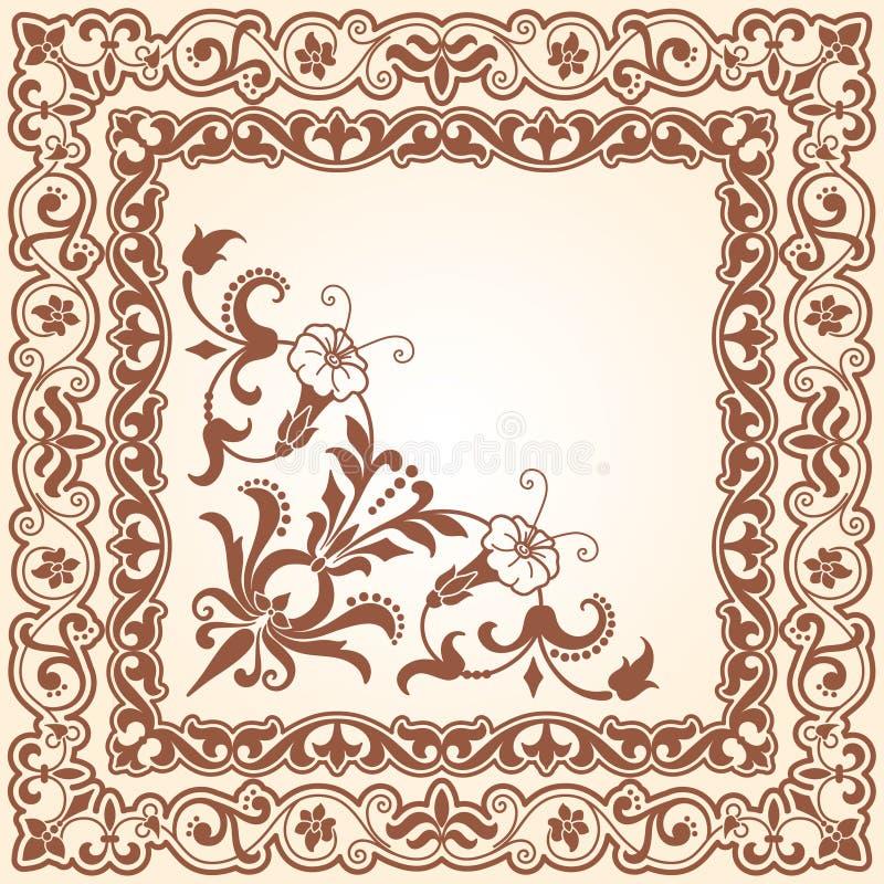 dekoracyjny kwiecisty zakres ilustracji