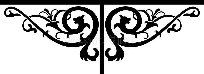 Dekoracyjny kwiecisty znak royalty ilustracja