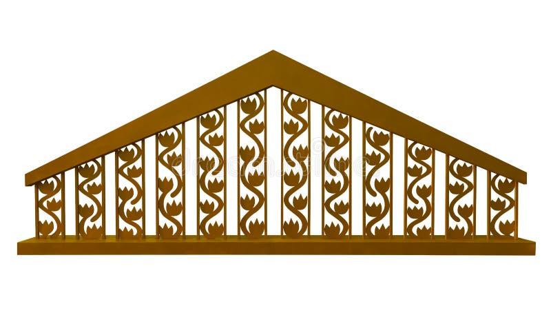 Dekoracyjny ogrodzenie - złoty ilustracji