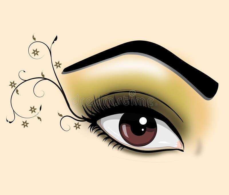 Dekoracyjny oko ilustracji