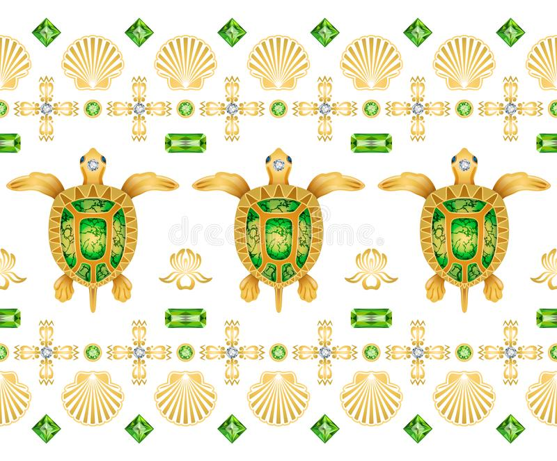 Dekoracyjny ornament żółwie zdjęcie stock