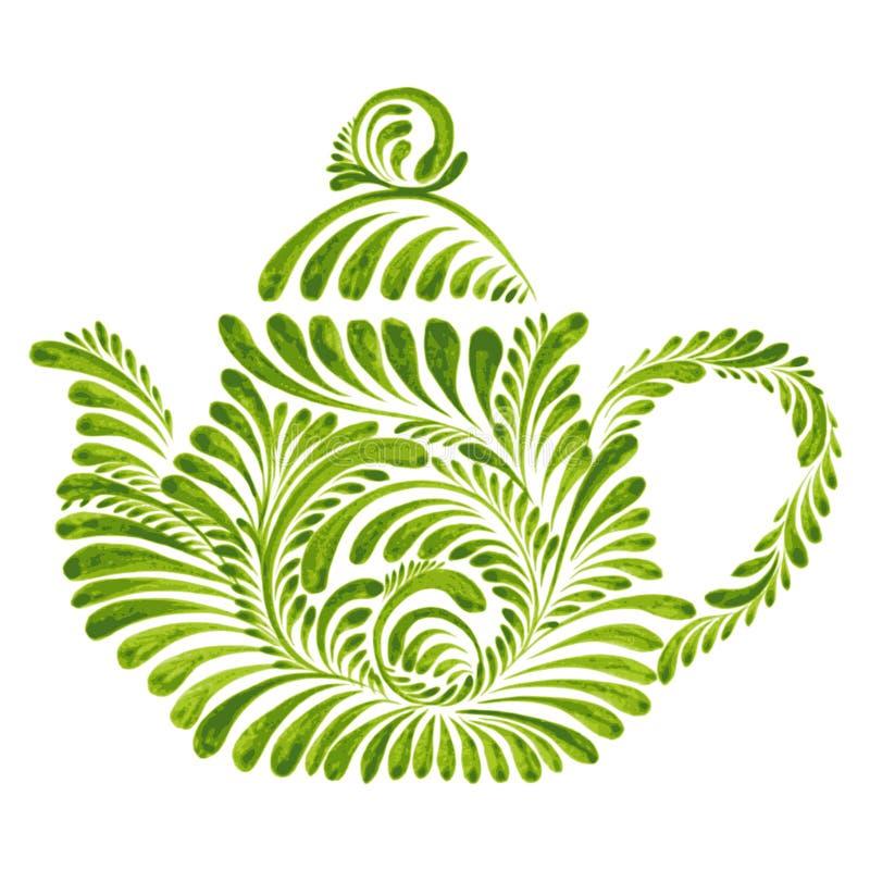 Dekoracyjny ornamentu teapot royalty ilustracja