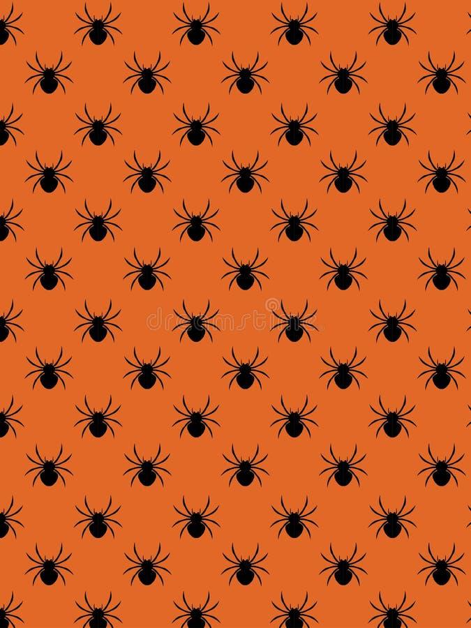 Dekoracyjny pająka wzór royalty ilustracja
