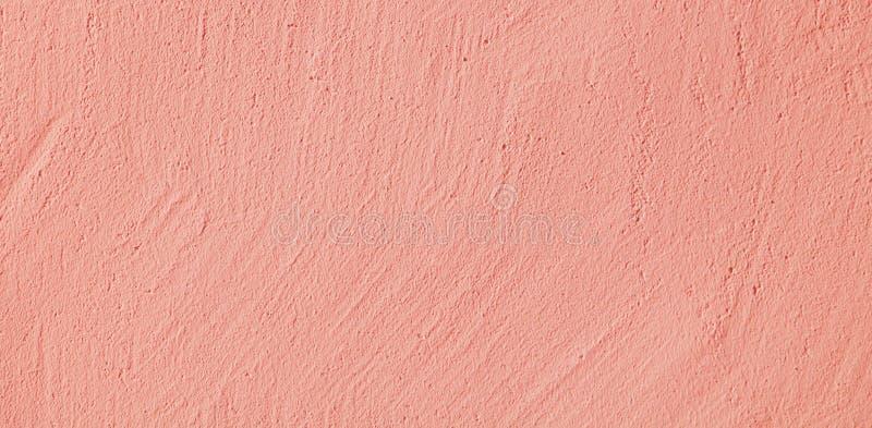 Dekoracyjny pastelu światło - różowa stiuk ściany tekstura obraz stock