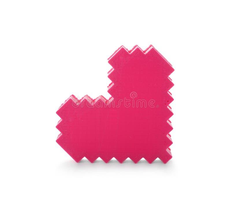 Dekoracyjny plastikowy serce na białym tle zdjęcie stock