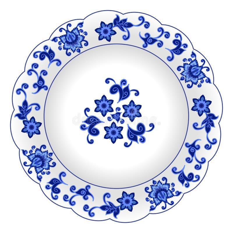 Dekoracyjny porcelana talerz royalty ilustracja